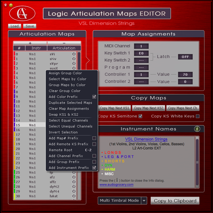 Logic Articulation Maps EDITOR (Mac app) :::: RELEASED - KVR