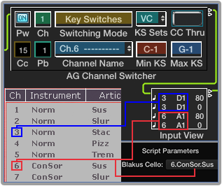 Logic Environment MIDI Channel Switcher